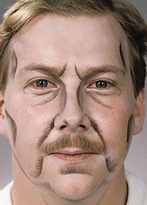 Alt schminken älter Theater Anleitung Vorlage nachschminken 9