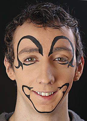 clown schminken anleitung vorlage motiv 6