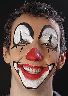 clown schminken anleitung vorlage motiv 7