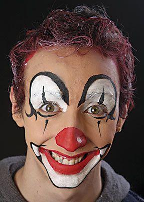 clown schminken von profis f r sie schminken anleitung tipps motive vorlagen. Black Bedroom Furniture Sets. Home Design Ideas