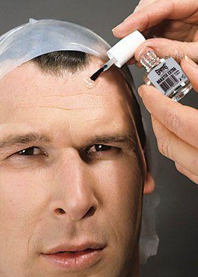 Glatze kleben 5