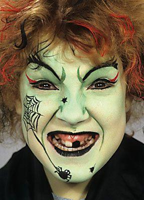 Hexe Schminken Mit Professioneller Karnevalsschminke Schminken