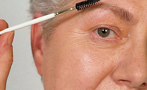 Reife Haut augenbrauen schminken Make up 5