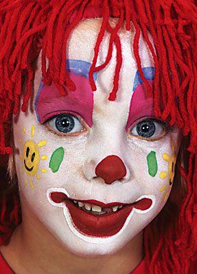 Clown schminken Anleitung Vorlage 20