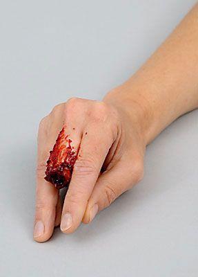 Wunde Finger schminken 12