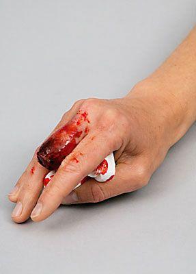 Wunde Finger schminken 13