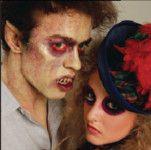 Halloween Zombie schminken 1