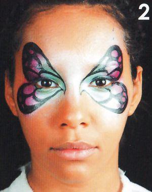Schmetterling schminken Kinderschminken Schminkanleitung 2