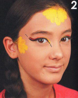 Kinderschminken Prinzessin schminken Schminkanleitung 2