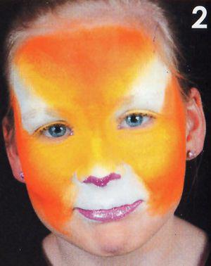 Kinderschminken Panther schminken Schminkanleitung 2