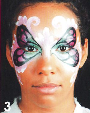 Schmetterling schminken Kinderschminken Schminkanleitung 3