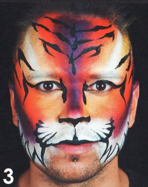Tiger schminken Schminkvorlage Kinderschminken Motiv 1
