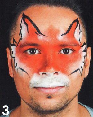 Fuchs Tiere schminken beim Kinderschminken 3
