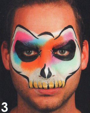 Horror Masken Schminkanleitung Kinderschminken Halloween 3