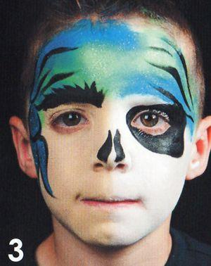 Kinderschminken Pirat schminken Schminkanleitung 3