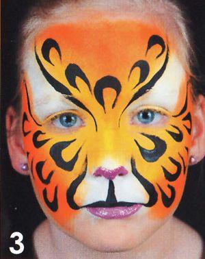 Kinderschminken Panther schminken Schminkanleitung 3