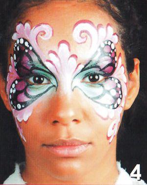 Schmetterling schminken Kinderschminken Schminkanleitung 4