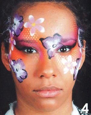 blumen schminken beim Kinderschminken 4