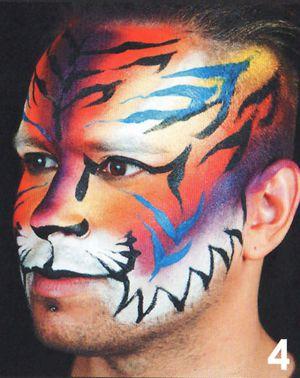 Tiger schminken Schminkvorlage Kinderschminken Motiv 2