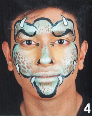 Monster schminken Kinderschminken anleitung 4