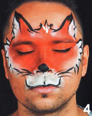 Fuchs Tiere schminken beim Kinderschminken 4