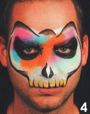 Horror Masken Schminkanleitung Kinderschminken Halloween 4