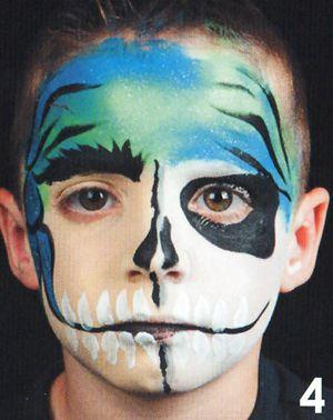 Kinderschminken Pirat schminken Schminkanleitung 4