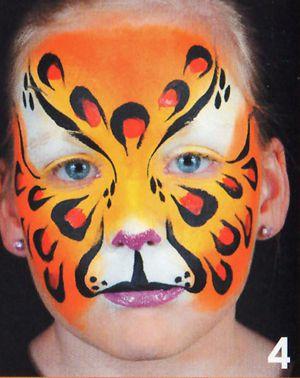 Kinderschminken Panther schminken Schminkanleitung 4