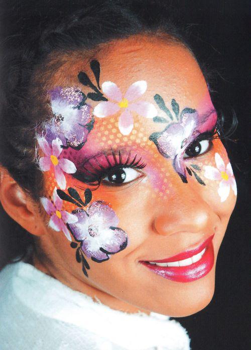 blumen schminken beim Kinderschminken 5