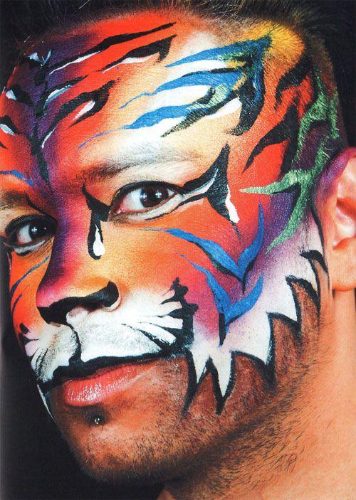 Tiger schminken Schminkvorlage Kinderschminken Motiv 3