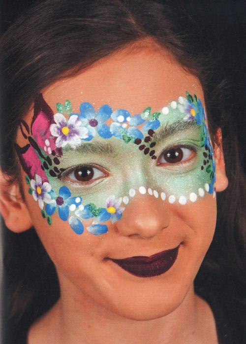 Schminkanleitung Blumen Maske schminken 5