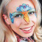 Kinderschminken Paradiesvogel schminken