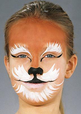 Anleitung Katze schminken 4