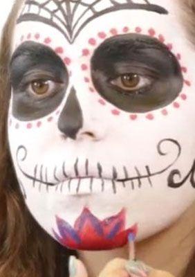 Sugar Skull Spain Blume betonen