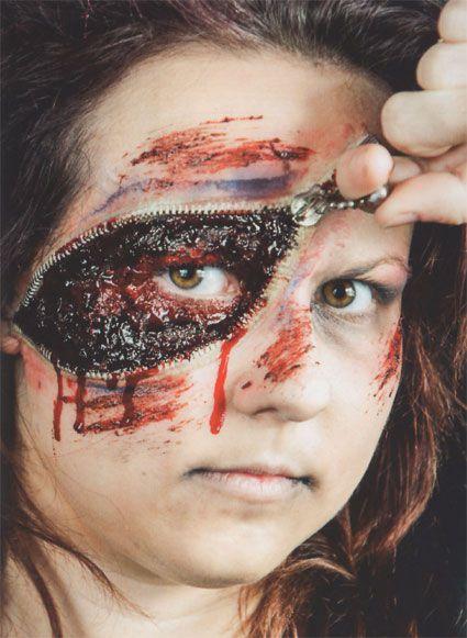 Zipper Face Horror Zombie Maske Halloween