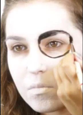 Sugar Skull Augen schminken