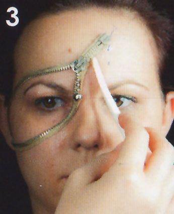 Zipper Face Reissverschluss schminken