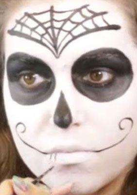 Sugar Skull Spain Mund schminken