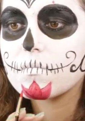 Sugar Skull Spain Blume schminken