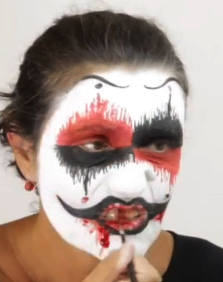 Den Horror Terror Grusel Clown Schminken Schminken Anleitung